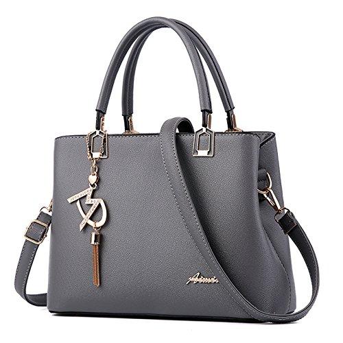 Mode Tasche Mode Neue Ausländische Gas Handtasche Lady Atmosphäre Schulter Messenger Bag Grau - Versace Leder Schulter Tasche