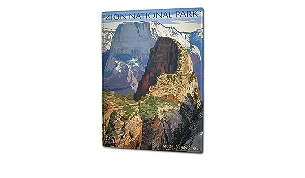 Blechschild Weltenbummler Zion National Park