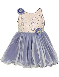 ChipChop Blue Sleevless Dresses for Baby Girls-WFGD0072B