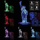MASUNN 3D New York City Freiheits Statue Berühren Fernbedienung 7 Farbe Wechseln LED Nacht Lampe Licht Geschenk