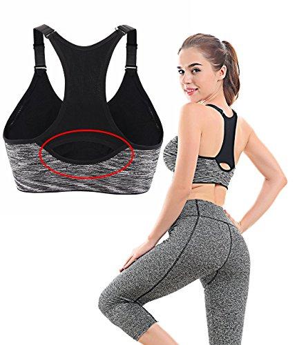 Srizgo Sport BH Damen Yoga BH mit dem starken Halt Sport Bra Yoga Bra gepolstert für Radfahren, Joggen, Boxen und Wandern Farben-02
