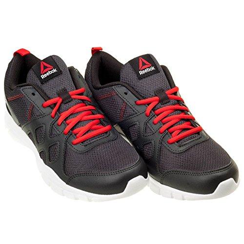 Reebok - Trainfusion Nine, Scarpe sportive Uomo Rosso/bianco/nero (Coal/Motor Red/White/Black)
