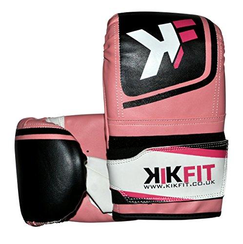KIKFIT Rosa Boxing Bag Mitts Kick Stanzen Handschuhe MMA Training Sparring UFC Grappling (Handschuhe Stanzen Rosa)