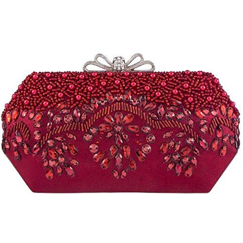 Bagood , Damen Clutch Rot