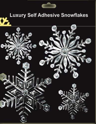 Schöne Silberschneeflocke-Fensteraufkleber Für Eingefrorene Themed Parteien (DP92) C