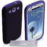 Yousave Accessories sa-ea01-z749Schutzhülle aus Silikon für Samsung Galaxy S3, Schwarz/Blau