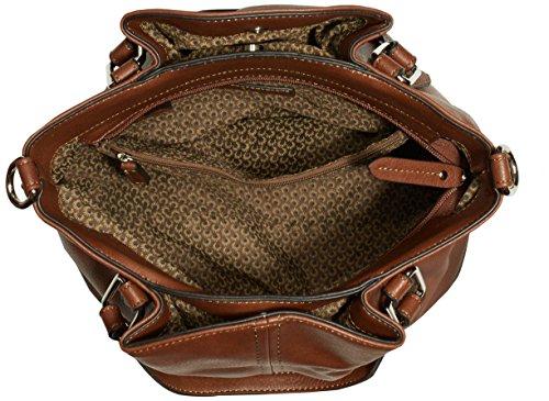 Gabor MARISA 7357 Damen Henkeltaschen 34x26x18 cm (B x H x T) Braun (cognac Handtasche)
