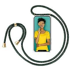 """Zhinkarts Handykette kompatibel mit Apple iPhone 11-6,1"""" Display - Smartphone Necklace Hülle mit Band - Schnur mit Case zum umhängen in Grün"""