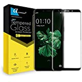 Ascension ® For OPPO F5 Border Edge To Edge Tempered Glass Gorilla Screen Protector High Premium Quality 9h Hard 2.5D Ultra Clear (Black) (Set Of 1)