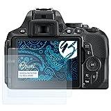 Bruni Schutzfolie für Nikon D5600 Folie - 2 x glasklare Displayschutzfolie