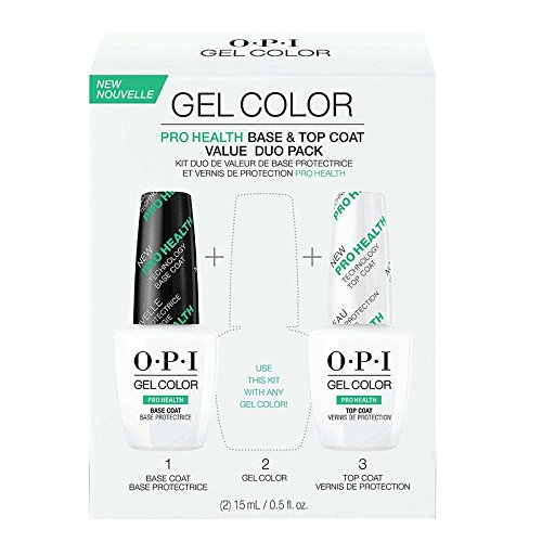 OPI Gelcolor réinvention Pro Health 2017 Duo Pack Base Coat + Top Coat 15 ml/Gel Polish.