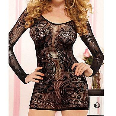 HJL Da donna Sensuale Indumenti da notte Rayon-Sexy Solidi , black , one-size black