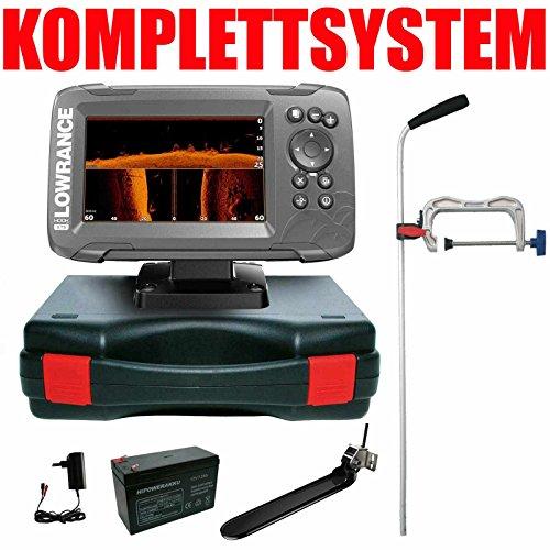 Lowrance Echolot Plotter Portabel Profi - Hook2 5 TripleShot Chirp Combo GPS Lowrance Combo Gps