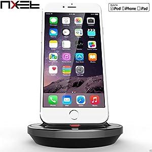 'iPhone Lightning Dock, nxet® [Apple MFI certifié] [cas Compatible] Table de berceau du Chargeur