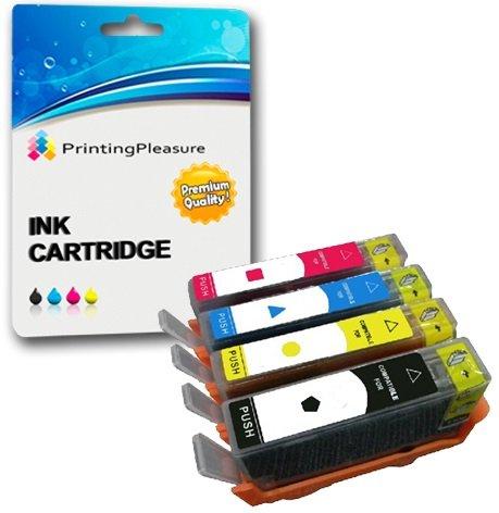 Printing Pleasure 4 Tintenpatronen kompatibel zu HP 655 für HP Deskjet Ink Advantage 3525 4615 4625 5525 6525 - Schwarz/Cyan/Magenta/Gelb, hohe Kapazität