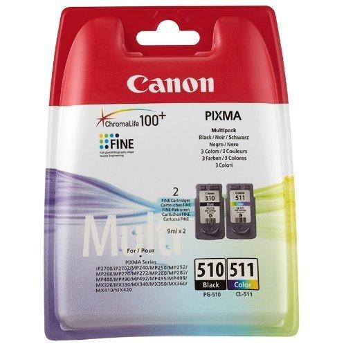 2 Original Cartuchos de tinta para Canon Pixma MX410 410 (Negro/Color)