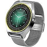 JJSSGGJJSSHH Sport Armband N9 Smart Watch mit Kamera Unterstützung SIM Karte Männer Frauen Schrittzähler Bluetooth 3.0 Schlaf Tracker Smartwatch für Android IOS, Silber