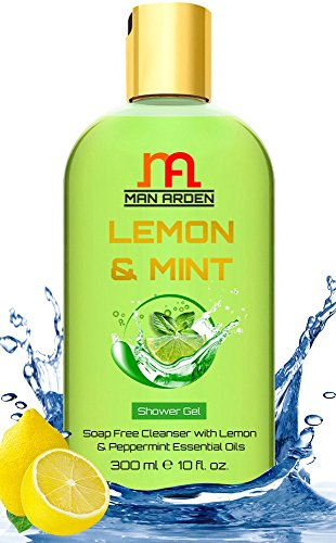 Man Arden Lemon and Mint Luxury Shower Gel, 300ml