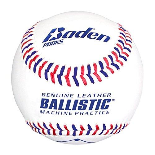 Baden Ballistic Leder Pitching Maschine Basebälle, (One