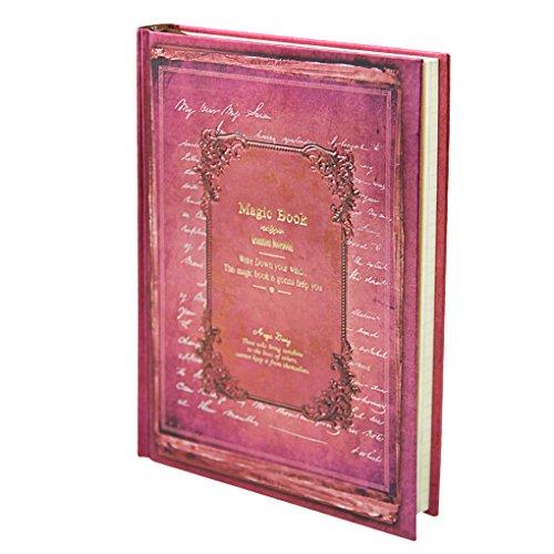 Liying Neu Retro Tagebuch Notizbuch Skizzenbuch DIN A5 Kraftpapier 128 Blatte Hardcover Geschenkbucher Reisetagebuch mit Schloss Der Apokalypse-code