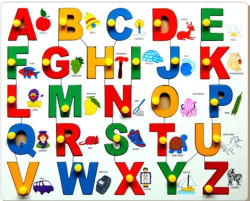 Little Genius Little Genius English Alphabets Picture Match With Knob