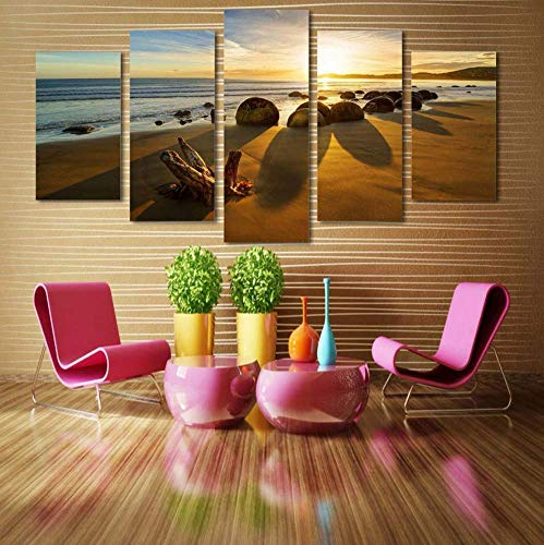 poster modulare tela dipinti hd stampato 5 pezzi reef stone alba panorama fotografie arte arredamento moderno muro del salotto