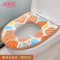 Inverno caldo i sedili di gabinetto pull-catena gabinetti impermeabile WC WC FODERINE SEDILI wc universale fodera per cuscino,Pebble Brown