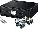Canon Pixma TS5050 Tintenstrahl-Multifunktionsgerät (Drucken, Scannen, Kopieren, WLAN, Print App) + USB Kabel & 20 Youprint Tintenpatronen (Originalpatronen ausdrücklich nicht im Lieferumfang)