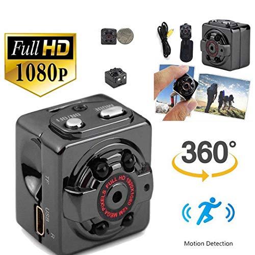 Mini fotocamera, visore notturno a infrarossi per rilevazione di movimento della telecamera hd 1080p portatile nascosta spia di fotocamera con visione notturna, rilevazione di movimento