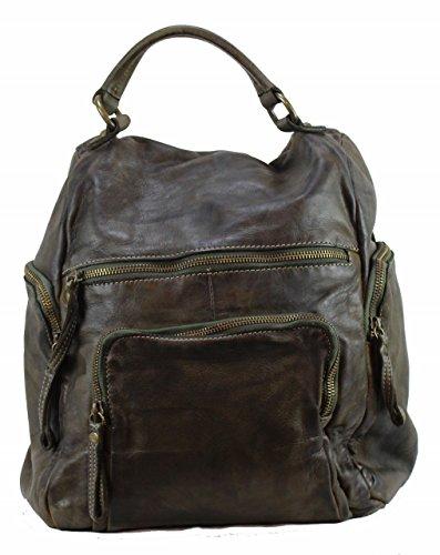 BZNA Bag Stella verde Backpacker Designer Rucksack Damenhandtasche Schultertasche Leder Nappa sheep ItalyNeu