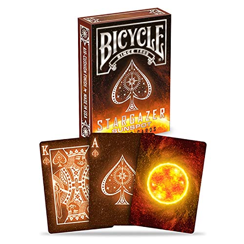 Bicycle Stargazer Sunspot, Starlight Solar, Pokerkarten, Playing Cards, Spielkarten + in der Luxtri Special-Edition inkl. Profi Keramik Poker-Chip, Sonnen-Kartenspiel