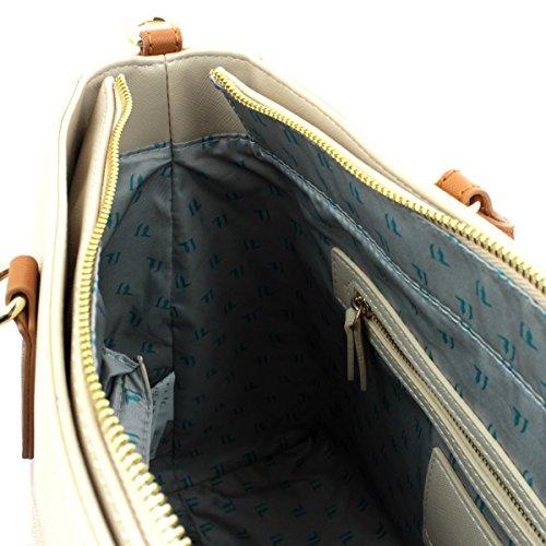 Trussardi Jeans 75B551XX Sac Shopper Femme BRONZE TU Beige