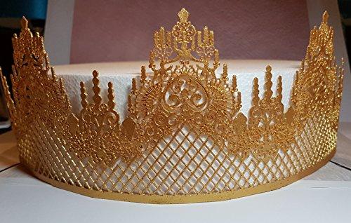 Tortenband Streifen, Hochzeit, Kuchen, Cupcakes 32.5 x 11.5 cm gold (Cupcake Castle)