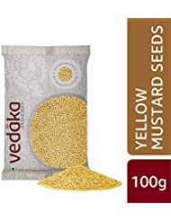 Amazon Brand - Vedaka Yellow Mustard Seeds, 100g
