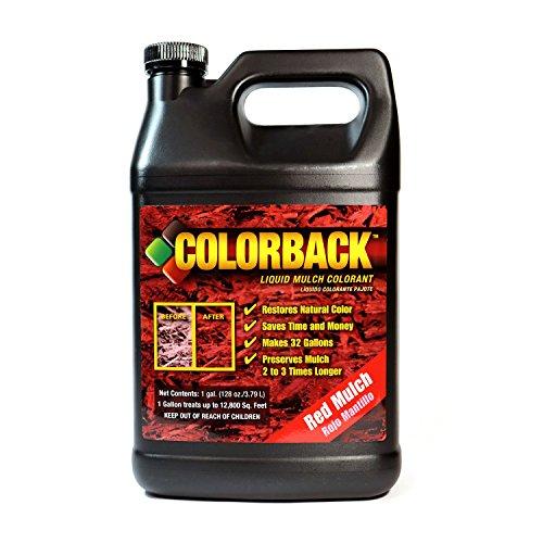 Colorback 192401 Paillage Solution de couleur, 1 Gallon, Rouge