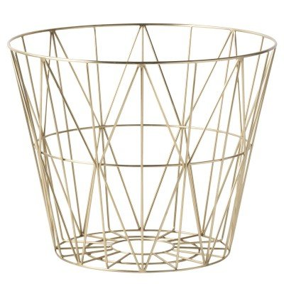 Panière Wire Brass large - Ferm Living Kids