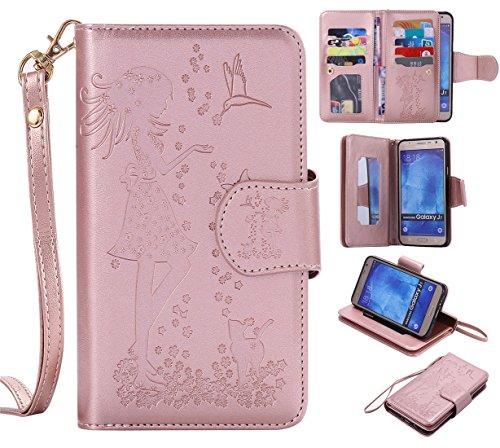 Chreey Coque LG K7 / LG K8 / LG Tribute 5 (5 pouces) ,PU Cuir Portefeuille Etui Housse Case Cover ,carte de crédit Fentes pour (9 fente) ,idéal pour protéger votre téléphone