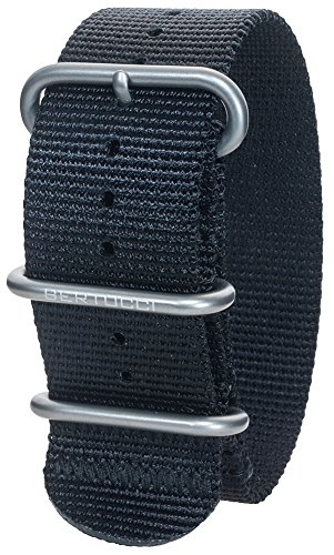 Bertucci DX3 B-114 Herren Schwarzes 26mm Nylon Uhrenarmband (Männer Bertucci-uhren Für)