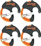 Câble Manchette Pro (lot de 4: 4x Medium 5,1cm de diamètre) réglable, réutilisable, remplacement de l'attache de câble pour cordons d'extension ou des appareils électroniques