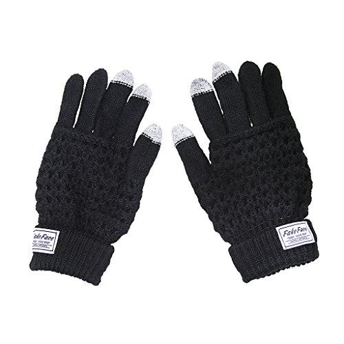 Winter Touchscreen Handschuhe Unisex warme Strickhandschuhe Smartphone Tablet Gloves Fingerhandschuhe für Outdoor und Sport