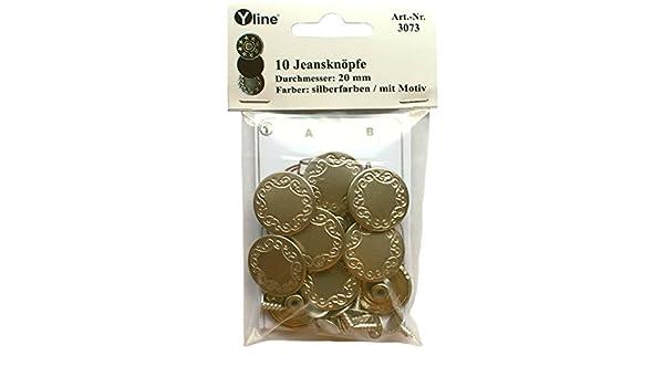 100 Knöpfe silbern Metall 20 mm Ø mit 4 Löchern basteln nähen Taschen Jeans NEU