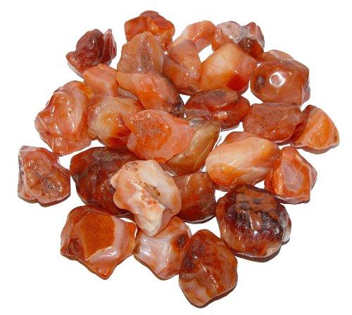 200 Gramm Carneol Achat anpoliert ohne scharfe Kanten Wassersteine Handschmeichler ca. 10-15 Steine.(3487)