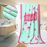 Elegante rosa Rose Badetuch Ladies 'Badetuch neueste entworfene Badetücher für Frauen 70 * 140