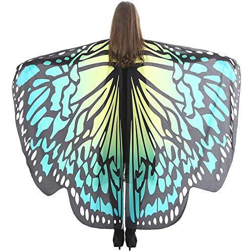 OUSOHE Wings Shawl Femmes Papillon Foulards Dames Nymphe Pixie Poncho Costume Accessoire