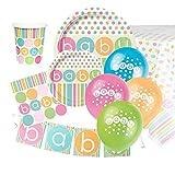 Pastel Baby Shower Ultimate Artículos para Fiestas Kit para 8