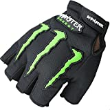 #1: AlexVyan®-Genuine Accessory- Monster Half Finger Protective Special High Quality Riding Gloves, Protective Cycling Byke Bike Motorcycle Glove for Men, Gents, Boys Universal Size (Black)