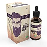 Beard Growth Oil for Men (50 ml) - Perfect Organic and All Natural Product for Grooming All Facial Hair Styles and Shapes; BEST Product to Grow a Moustache Faster; Top Rated Gift Set for a Man; Better for your Shaving and Trimming Trimmer