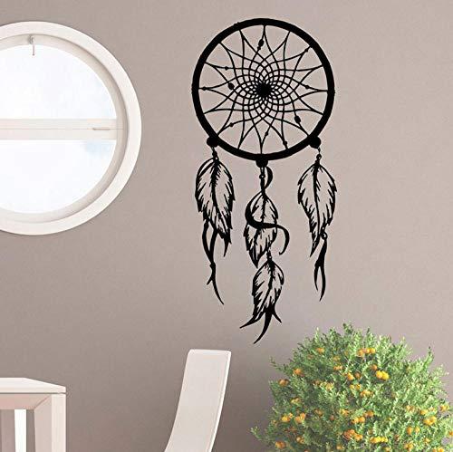 ZJfong 42x94 cm Bohemio estilo decorativo pegatinas de pared de vinilo tatuajes de pared de nativos americanos en casa dormitorio atrapasueños