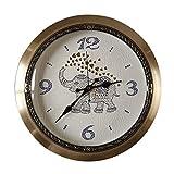 Reloj Golden Elephant Wall Clock - Reloj De Pared De Cobre MetáLico - Reloj De Pared Europeo - Estilo Americano - Sala De Estar - Oficina - Hotel - Regalos Empresariales (15 Pulgadas) +