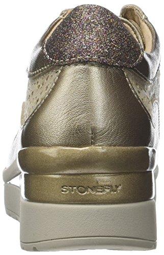 Stonefly Damen Cream 2 bis Goat LAM Plateaupumps Gold (Metal Fizz Z00)
